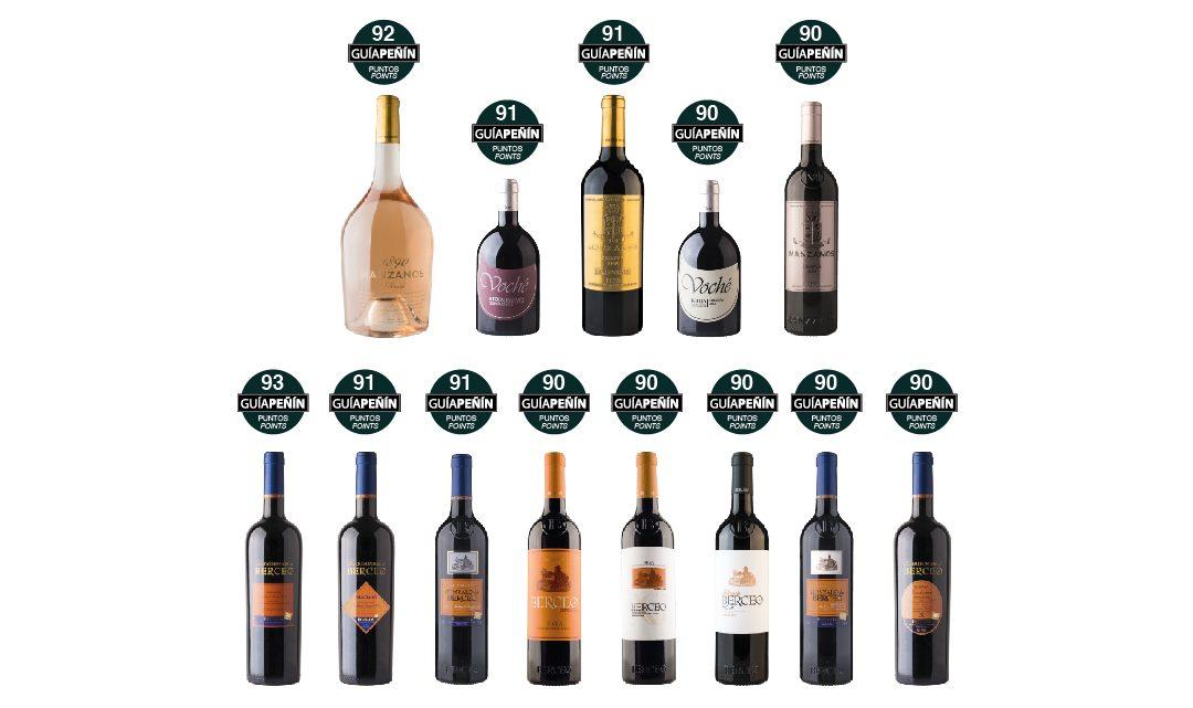 Este año la prestigiosa Guía Peñín ha situado en el TOP de la clasificación a los vinos de Manzanos Wines