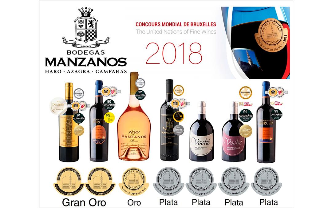 Manzanos Wines logra 7 medallas en el Concours Mondial de Bruxelles celebrado en Pekín.